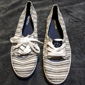 Nautica Tennis Shoes Flats Navy and White New